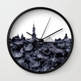 Warsaw Skyline Poland Wall Clock