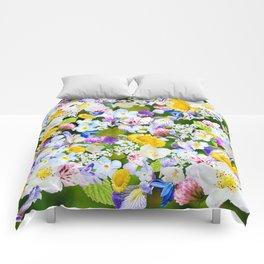 Flower mess Comforters