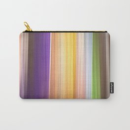 Different soft coloured striped abstract Carry-All Pouch