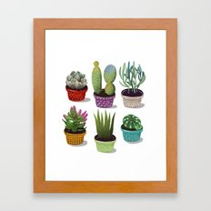 Cactus Collection Framed Art Print
