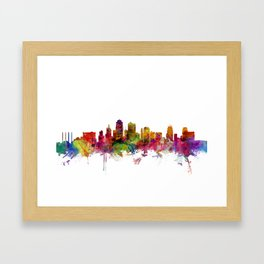 Kansas City Skyline Framed Art Print