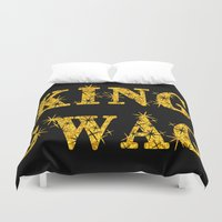 swag Duvet Covers featuring KING SWAG by SammieEnglishArt