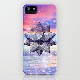 Sacred Geometry Universe 8 iPhone Case