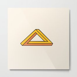 Impossible Triangle Metal Print
