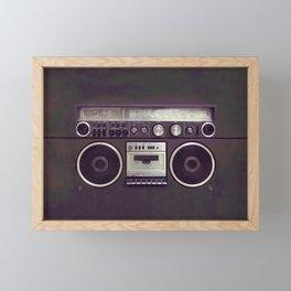 Retro Boombox Framed Mini Art Print