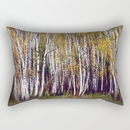 Golden birch grove Rectangular Pillow