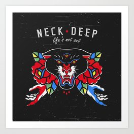 Neck Deep Art Print
