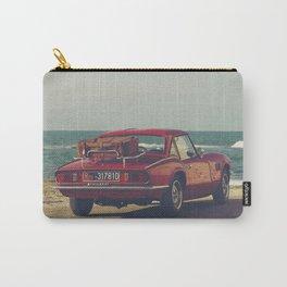 Red Supercar, classic car, triumph, spitfire, color photo, interior design, old car, auto Carry-All Pouch