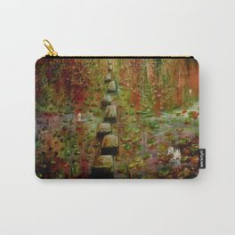 The Lilly Pond Path copper signature Carry-All Pouch