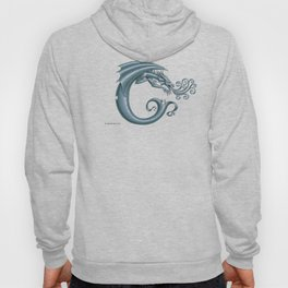 Dragon Letter C, from Dracoserific, a font full of Dragons. Hoody