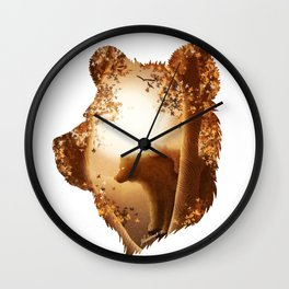 Bear Haven Wall Clock