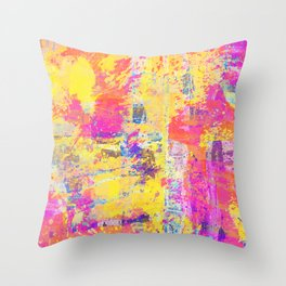 Always Look On The Bright Side - Abstract, textured painting Throw Pillow