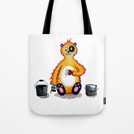 Mr bear wants to be a panda Tote Bag