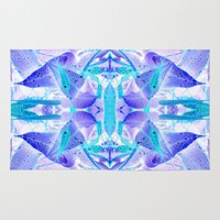 crystal Area & Throw Rugs featuring Crystal by Cs025