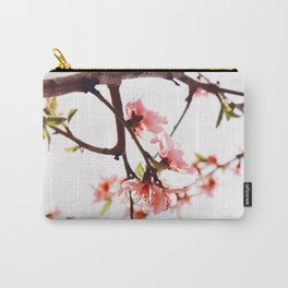 Peach Cherry Bloom Carry-All Pouch