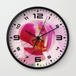 Close up Orchid #3 Wall Clock