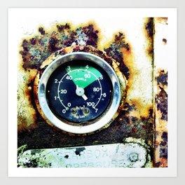 Ruined dial Art Print