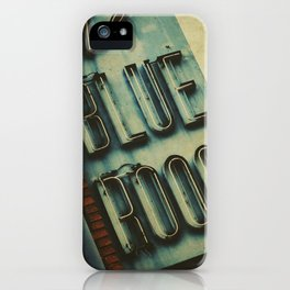 Blue Room Neon Sign iPhone Case