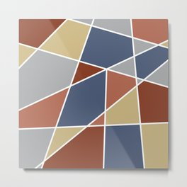 Cool Stained Tiles Metal Print