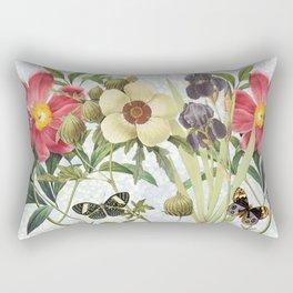 Flower Power Butterflies Rectangular Pillow