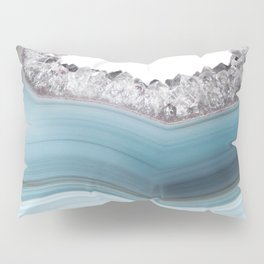 Deep Blue Agate with Amethyst Pillow Sham