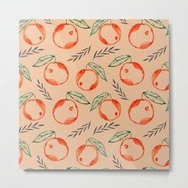 orange seamless pattern Metal Print