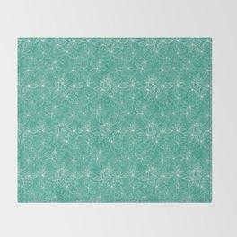 Floral Freeze Mint Throw Blanket