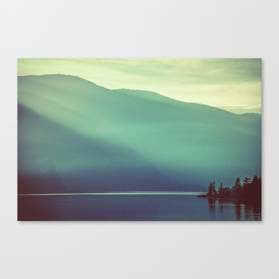 Summer at the Lake Turquoise Canvas Print