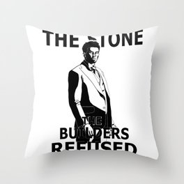 Bushmaster 'Stone The Builders Refused' Throw Pillow