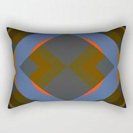 Retro Rocket 42 Rectangular Pillow