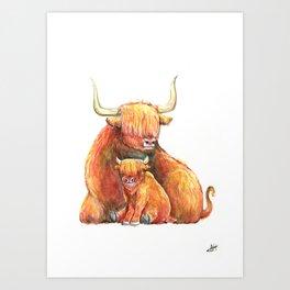Yakety Yaks Art Print