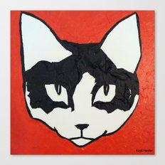 Red Kit Head Canvas Print
