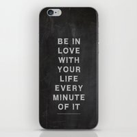kerouac iPhone & iPod Skins featuring Jack Kerouac Quote no 2 by BlakesWorkshop