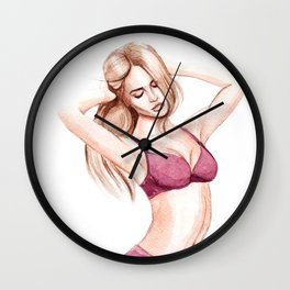 hot Wall Clock