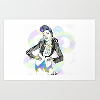 Janelle Monae Art Print