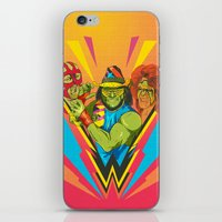 wrestling iPhone & iPod Skins featuring Classic Wrestling by RJ Artworks