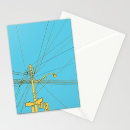 Cables and wires over Queen and Bathurst Stationery Cards