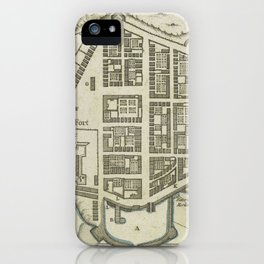 Vintage Map of Lower Manhattan (1764) iPhone Case