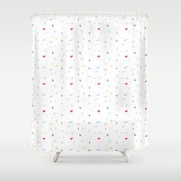 Hipster World - In Colors Shower Curtain