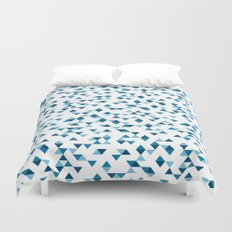 Triangles Blue Repeat Duvet Cover