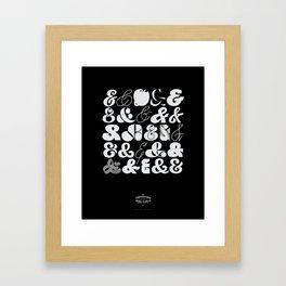 25 Ampersands Framed Art Print
