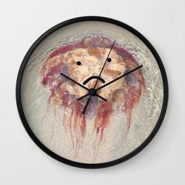 Sad Jellyfish Wall Clock