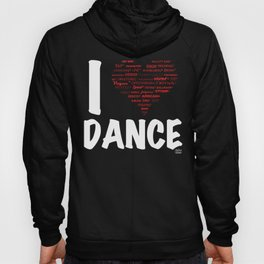I Heart Dance(white) Hoody