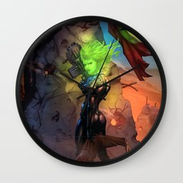 Anne  Frankenstein - Book I Wall Clock