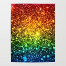 RainBoW Sparkle Stars Poster