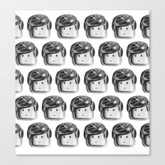 Minifigure Pattern Canvas Print