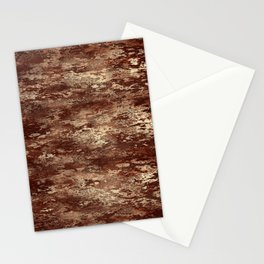 Brown wood bark texture Stationery Cards