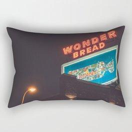Wonder Neon Sign - Memphis Photo Print Rectangular Pillow
