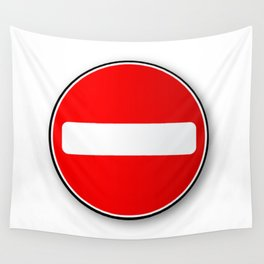 No Traffic Entry Wall Tapestry