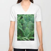 fern V-neck T-shirts featuring fern by Dar'ya Vlasova